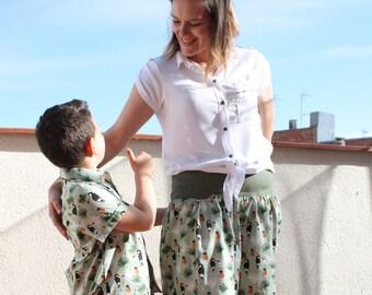 Set shirt boy skirts.