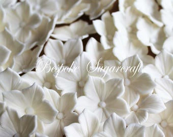 x100 Ivory Sugarcraft Petunia Blossoms for Any Occasion Cake, sugarflower blossoms, edible flowers, gumpaste blossoms, Petunia