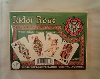 Vintage Tudor Rose Collectible 2 Deck Playing Cards new