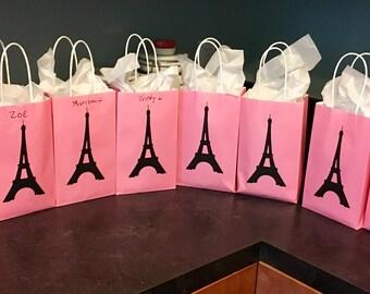 Paris Theme Favor Bags