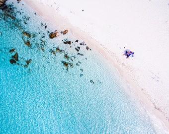 Wall Art | Aerial Photography | Print | Beach | Seascape | Meelup Beach | Western Australia