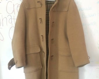 Vintage Burberry wool camel trench coat!!