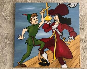 Peter Pan oil painting