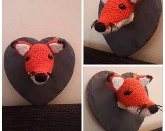 Crocheted Faux Taxidermy Fox