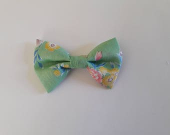 Mint Green Floral Hair Bow Tie Collar
