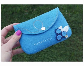 Pretty in blue pouch FlowerPower