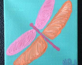 Acrylic dragonfly painting - Matilda Jane inspired