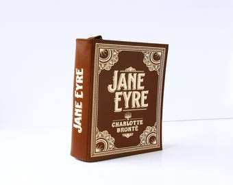 Jane Eyre Leather Book Purse Charlotte Bronte Book Bag