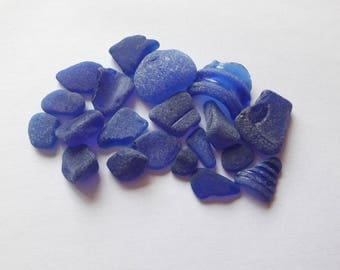 Sea glass / 20 cobalt sea glass pieces