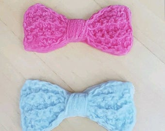 6 edible crochet bows sugar paste