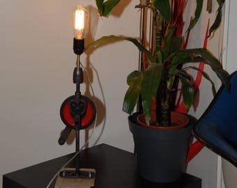 Table lamp red drill Psi gears