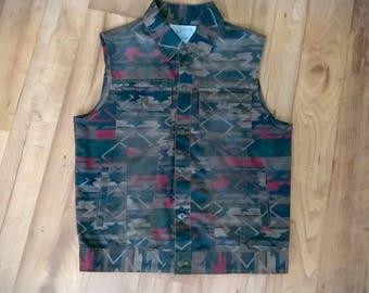 Trendy Aztec Custom Denim Vest