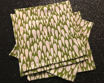 Designer fabric coasters