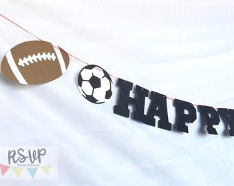 Sports Banner, Football Banner, Soccer Banner, Baseball Banner, Volleyball Banner, Basketball Banner, Sports Party Decor