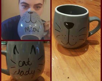 Custom hand painted mugs