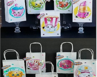 Shopkins 10pc 3D Shopkins favor treat bags  BIRTHDAY PARTY Gift bags