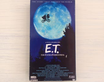 Vintage E.T. VHS Movie 1988 Green and Black Hologram Edition