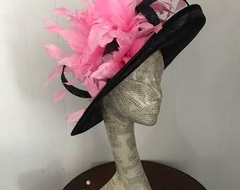 Navy Blue & Pink hat