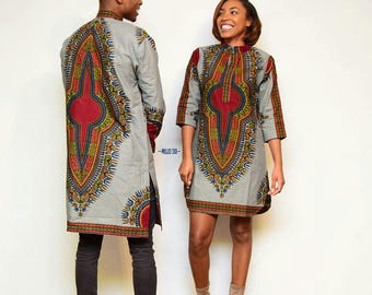 Couple Dashiki dress,Trendy Couple wear,Dashiki couple wear,African clothing for couple