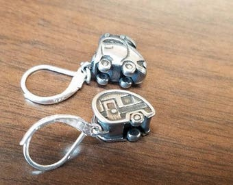 Car and trailer 925 silver clasp earrings created exclusively for Trailer Trash!