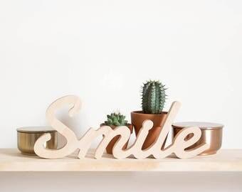 """Figure of wood """"Smile"""""""