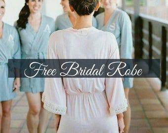 Bridesmaid robes- Bridesmaid robes, Custom Bridesmaid Gifts, Getting ready robes, bridesmaid robe set, bridal robe, set of 6, silk bridesmai
