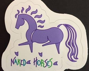 Lavender Dressage Horse Sticker