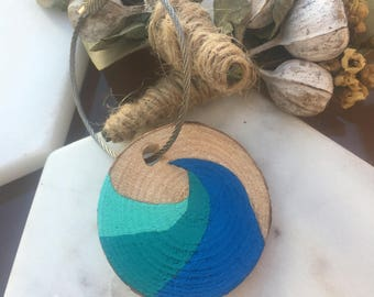Wooden Key Chains - Waves