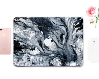 Marble Skin MacBook Air Paint MacBook Case Apple MacBook Case White MacBook Pro 13 Case Apple Mac Cover Grey Sticker Laptop ESD052