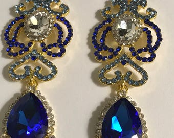 Royal Blue Austrian Crystal Earrings