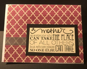 Mother's Day Card - Handmade