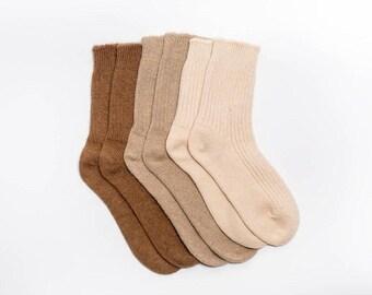 Organic camel wool unisex socks - sizes up to EU52