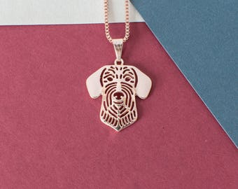 Longhaired Dachshund Necklace -Rose Gold Plated