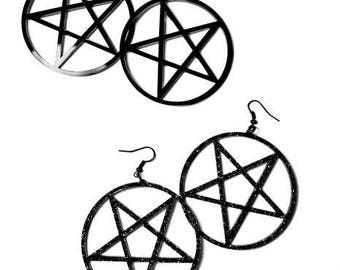 Large Pentacle Earrings - Standard/Inverted