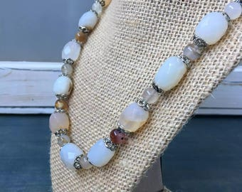 Montana Agate Beaded Necklace