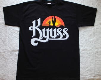 kyuss black widow stoner rock queens of the stone age new black t-shirt