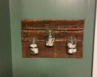 Bath supply jar shelf