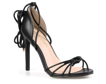 Mark and Maddux Oscar-08 Strappy Women's High Heel Sandals in Black