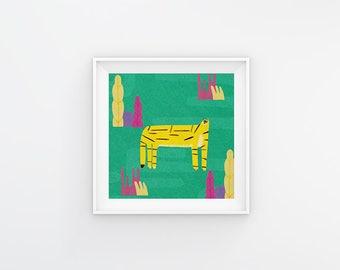 Liger Art Print