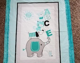 ABCDE Elephant Blanket