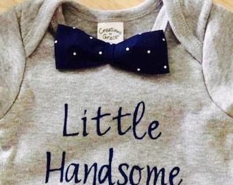 Customized Baby boy onesie with bowtie