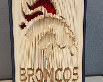 Folded Book Art - Broncos