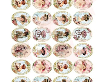 32 nostalgia Shabby Chic dining sugar paper cake decoration CupCake i8 cake muffin & cupcake Topper Oblate paper food i8