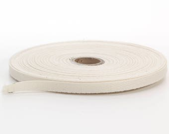 Twill tape, 1/2-inch Wide, 36 yds, Natural