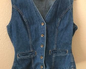 Vintage Denim Vest kemington express size XS