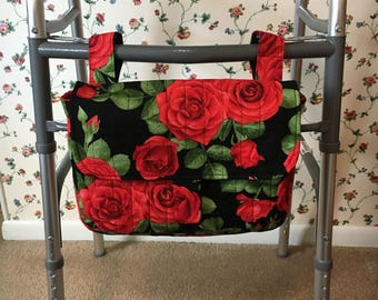Walker Quilted Purse Bag With Velcro Closure on Flap and Straps