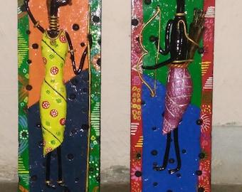 Tribal Art/ African Tribal/ Wall Hanging/ Wall Decor