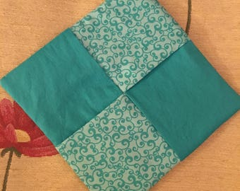 Hot Pad/ Pot Holder in Teal
