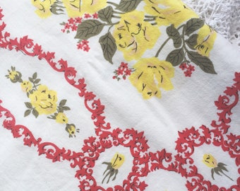 Vintage Rose Tablecloth
