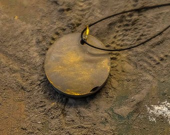 Concrete reversible pendant necklace